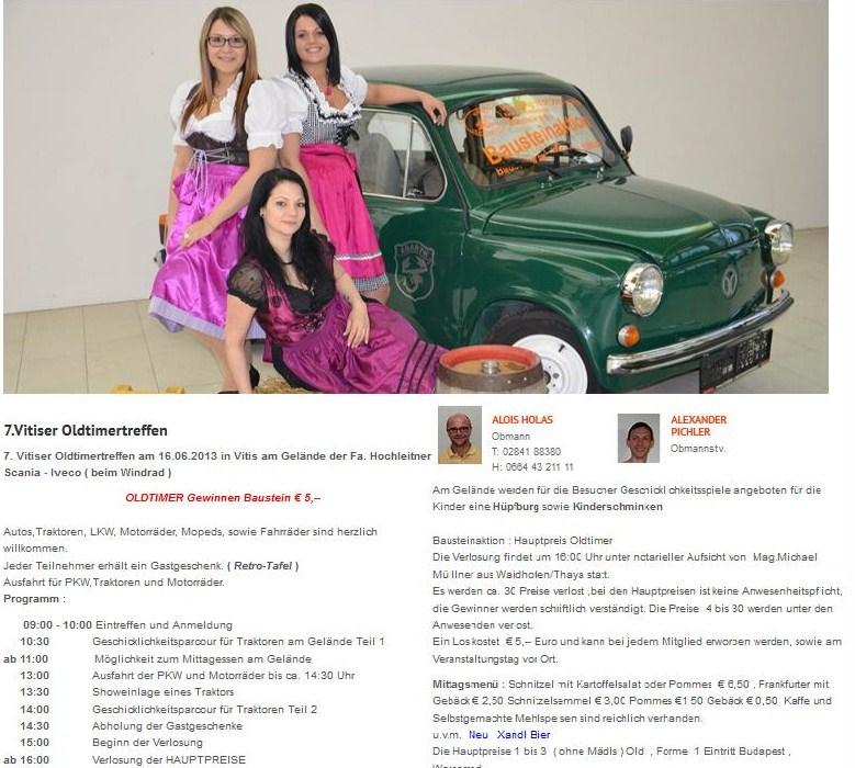 10. Oldtimertreffen in Vitis - Waidhofen/Thaya - google-anahytic.com
